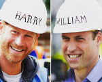 William e Harry usaram capacetes personalizados na gravação de reality
