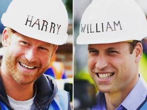 Príncipes William e Harry colocam a mão na massa em reality show