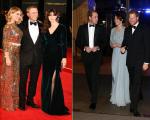 Daniel Craig, Monica Belluci e William, Kate e Harry