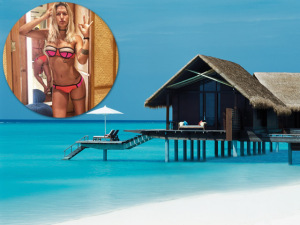 Gabriela Pugliesi comemora aniversário nas Ilhas Maldivas