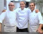 Os chefs Luca Orini, Francesco Carli e Nicola Finamore