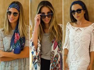 Vogue Eyewear ensina blogueiras a usar lenços no verão