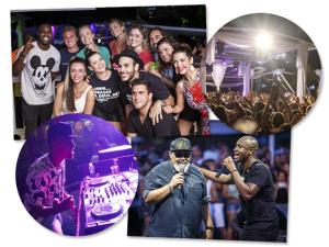 Angélica, Luciano Huck e mais uma turma de globais caindo no samba