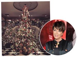 A decoração de Natal nada básica da família Jenner-Kardashian