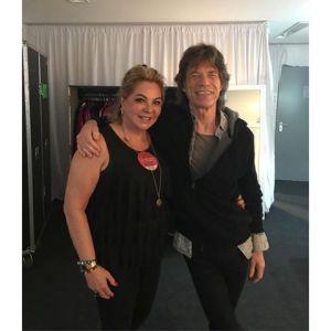 Luciana Gimenez mostra lado tiete da mãe em foto comMick Jagger