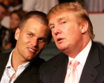 Os amiguinhos Tom Brady e Donald Trump