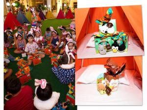 Cacau Show presenteia turminha em festa do pijama do Center Norte