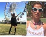 Shantal Abreu e Paula Morais na Casa Laces Coachella