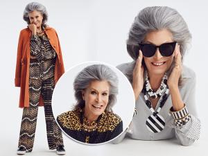Em primeira mão, o début de Gisella Amaral como modelo, aos 75