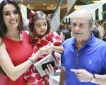 Iara, Maria Clara e Carlos Jereissati na festa de 4 anos da pequena