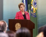 A Presidente Dilma Rousseff,durante a Solenidade  no Planalto, Sobre Medidas de Fortalecimento para a Formação Técnica e Proficional.