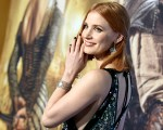 Jessica Chastain com joias Piaget