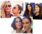 Yasmin e Luiza Brunet, Bia e Camila Yunes e Cléo e Glória Pires