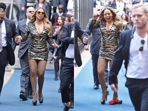 Ui! Mariah Carey é traída por seu Louboutin e quase leva tombo