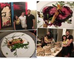 Sofia Derani e André Bocchi e o chef Diogo Seadon