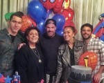 Murilo Braga, Leda Nagle, Daniel Hernandez, Sabrina Sato e o aniversariante  Duda Nagle