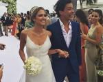 Helena Bordon e Humberto Meirelles a caminho do altar
