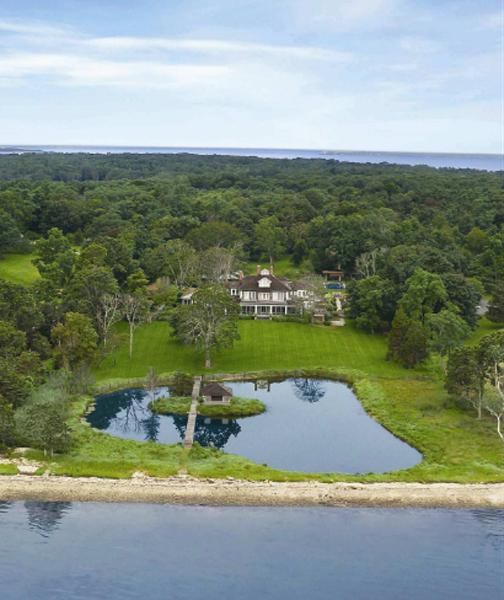 Detalhes da mansão nos Hamptons