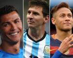 Cristiano Ronaldo, Messi e Neymar figuram an lista dos mais bem pagos do mundo