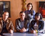 Bel Coelho com Kamal, Mazen e Rachel