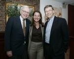 Warren Buffett com Bill e Melinda Gates