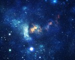 Bright space background, stars galaxy