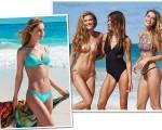 Nina Agdal, novo affair de Leonardo DiCaprio, com as brasileiras Guisela Rhein e Bruna Mattos na campanha da marca Live!