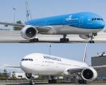 As aeronaves da Air France e KLM, que subiram no ranking da World Airline Awards