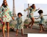 Beyoncé e Blue Ivy de looks Gucci em Paris