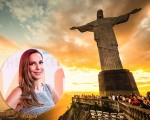RIO DE JANEIRO, MARCH 3: Tourists are happy to see the first sunset after a week of rain and thunderstorms on the Corcovado Hill - march 3, 2013 in Rio de Janeiro, Brazil. In 2007 was elected one of the new seven wonders of the world.
