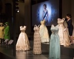 LONDON, ENGLAND - JULY 21: Outfits worn by Queen Elizabeth II are displayed during a photocall at Buckingham Palace on July 21, 2016 in London, England. The piece makes up part of a forthcoming exhibit 'Fashioning a Reign: 90 Years of Style from The Queen's Wardrobe' to coincide with the Summer Opening of Buckingham Palace. The exhibit includes outfits worn by the Queen from State events to family celebrations and runs until October 2, 2016.  (Photo by Dan Kitwood/Getty Images)