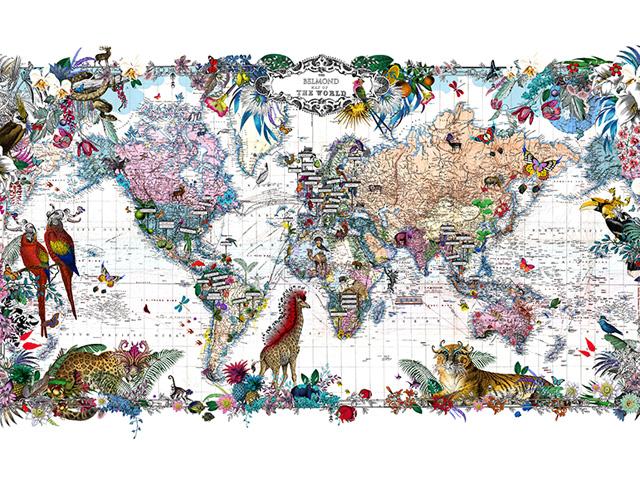 mapa-tamanho Artista islandesa vai estampar o Copacabana Palace com borboletas Curiosidades Notícias