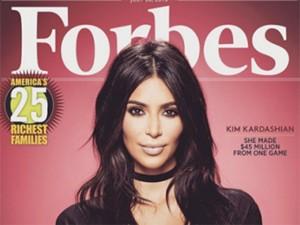 """Só dá ela! US$ 51 milhões colocam Kim Kardashian na capa da """"Forbes"""""""