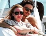 Lindsay Johan e em Mykonos