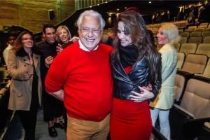 """Antonio Fagundes e seu filho Bruno na reestreia de """"Vermelho"""""""