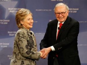 Warren Buffett vai subir no palanque com Hillary Clinton em sua terra natal