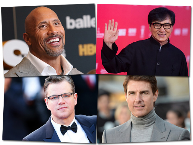 Jackie Chan, Matt Damon, Tom Cruise, Tom Cruise || Créditos: Getty Images