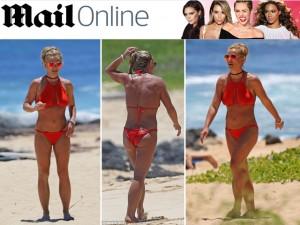 Britney Spears leva novo corpo escultural para as praias do Havaí