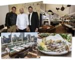Olivier e Pierre Anquier entre o chef Benoit Mathurin, detalhes do restaurante e as sardinhas grelhadas!