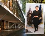 A fachada do Museu Afro Brasil  e Alexandra Loras, ex-consulesa da França no Brasil