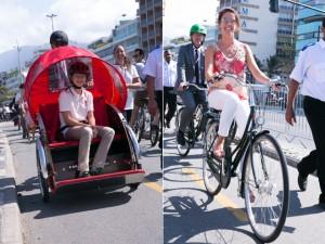 Família real dinamarquesa da rolê de bike pela orla de Ipanema