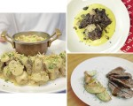 Uma boa carne deve vir bem acompanhada: pode ser uma farofa crocante, uma batata rústica assada ou uma salada com molho especial