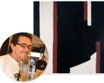 José Bernnô e a tela que passa a fazer parte do acervo da Pinacoteca de SP