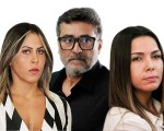 Denise Silva, Marcos Souto, o pivô, e Marcelaine Shummann: triângulo (quase) mortal