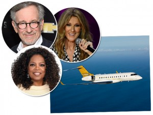 Conheça os jatinhos de famosos como Spielberg, Oprah Winfrey e Celine Dion