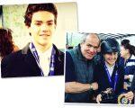 Thales Marino e José Vicente Marino com a filha Maithe: família nota 10!