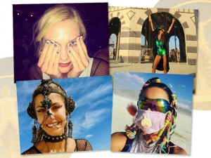Nunca foi tão cool ser alternativo! Os cliques dos famosos no Burning Man 2016
