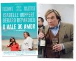 """Gérard Depardieu e o cartaz do filme """"Vale do Amor"""". O ator desembarca no RJ no dia 17 deste mês!"""