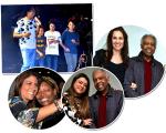 Djavan no palco com netos e filho, Flora e Gilberto Gil, Mart'nália com uma fã e Preta com Gil