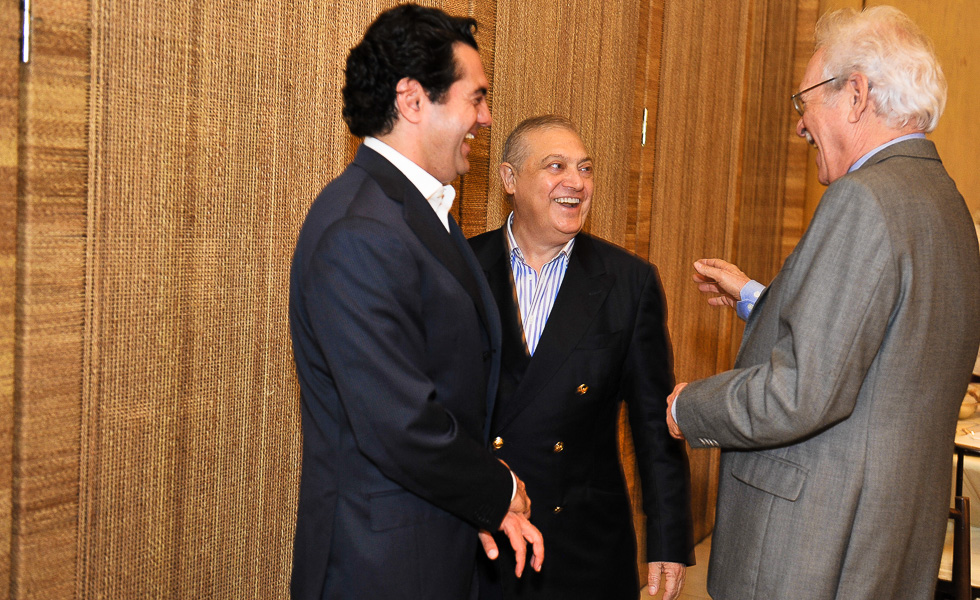 Alexandre Chade com Suheil Yamout e Raul Meyer